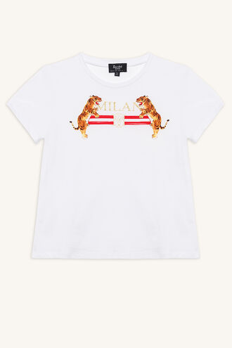 TIGER TEE in colour BRIGHT WHITE