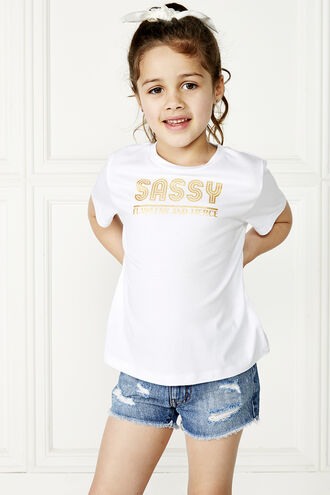 SASSY TEE in colour CLOUD DANCER