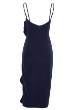 RONI MIDI DRESS in colour MARITIME BLUE