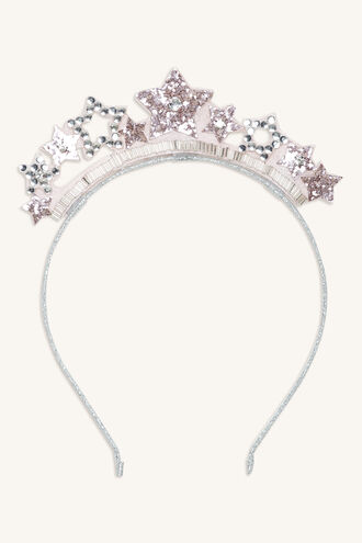 STAR CROWN HEADBAND in colour PINK CARNATION