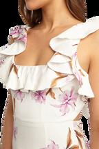 LESLIE FLORAL DRESS in colour BLANC DE BLANC