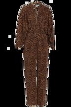 LEOPARD PANTSUIT in colour BEIGE