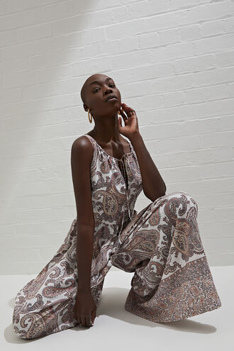 PAISLEY JUMPSUIT in colour CLOUD DANCER