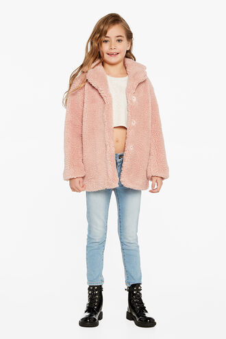 IZZY LONG COAT in colour MAUVEGLOW