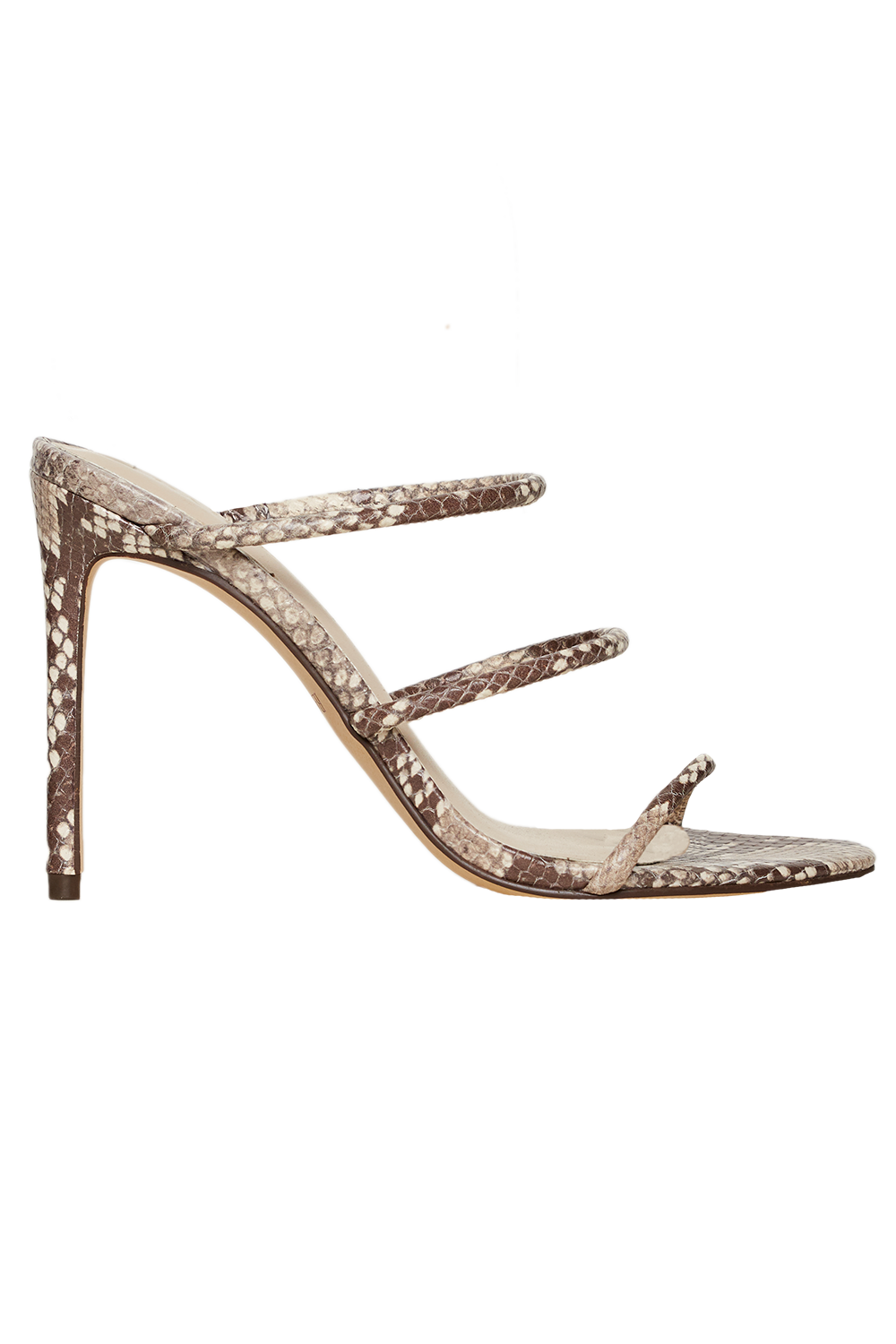 TRI LEATHER STRAP HEEL in colour ANTELOPE