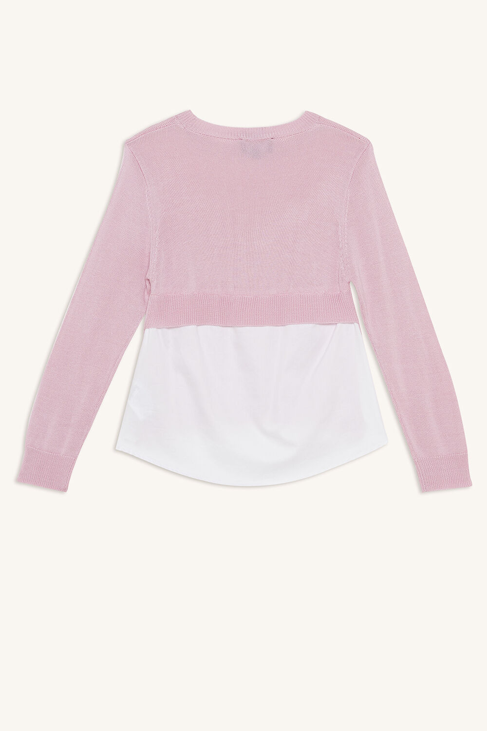 ELORA 2FER KNIT TOP in colour LILAC CHIFFON