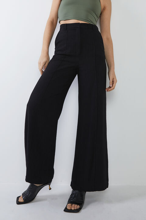 PIN TUCK PANT in colour CAVIAR