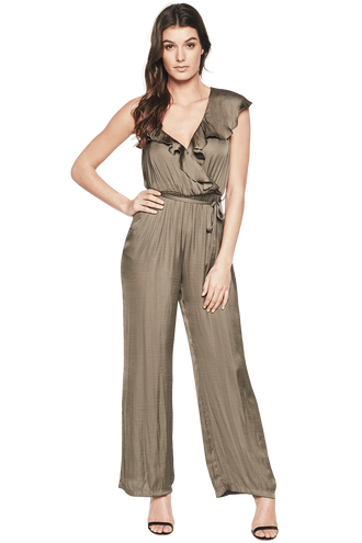MILLY JUMPSUIT in colour OLIVINE