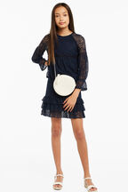 ANGIE LACE TOP in colour MARITIME BLUE