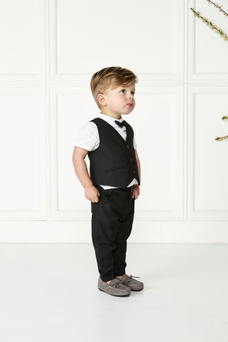 OSCAR SUIT VEST in colour JET BLACK