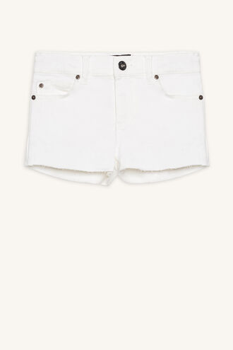 PIPPA DENIM SHORT in colour CLOUD DANCER