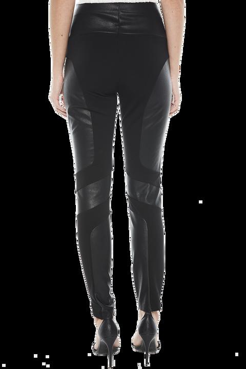SPLICED PONTE PANT in colour CAVIAR