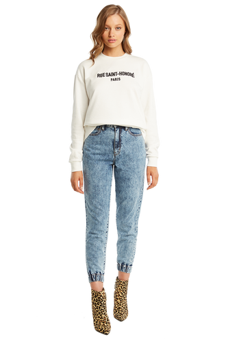 RUE ST HONORE SWEAT in colour BRIGHT WHITE
