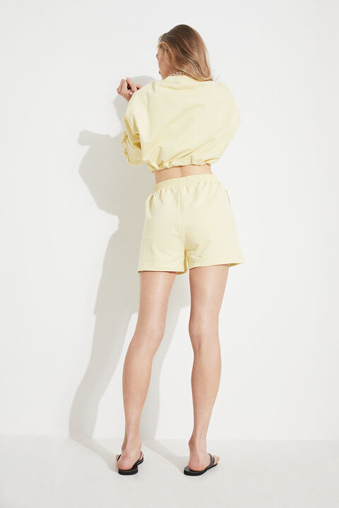 TRACK SHORTS in colour TRANSPARENT YELLOW