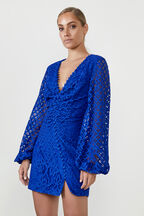 ALEXA DRESS  in colour BRIGHT COBALT
