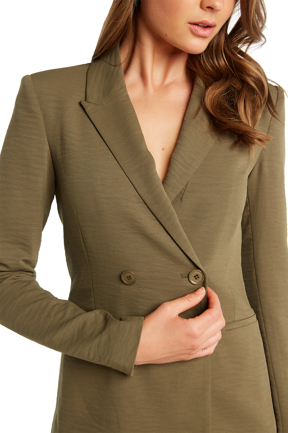 VENICE BLAZER in colour BURNT OLIVE