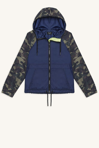 CAMO WINDBREAKER JACKET in colour DRESS BLUES