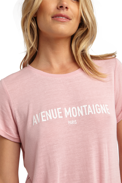 AV MONTAIGNE TEE in colour CAMEO PINK