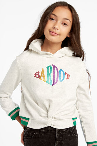BARDOT TWIST HOODIE in colour SILVER BIRCH