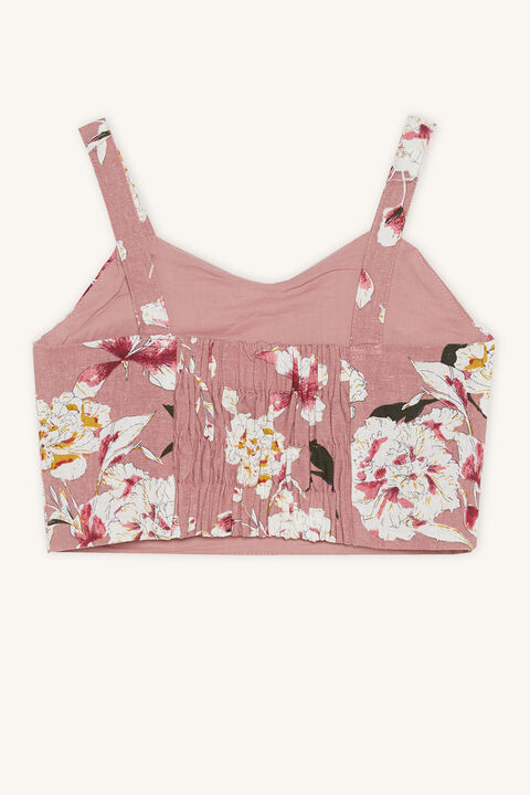 ESTHER CROP TOP in colour BRIDAL ROSE