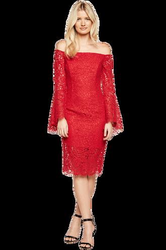 SOLANGE LACE DRESS in colour FORMULA ONE