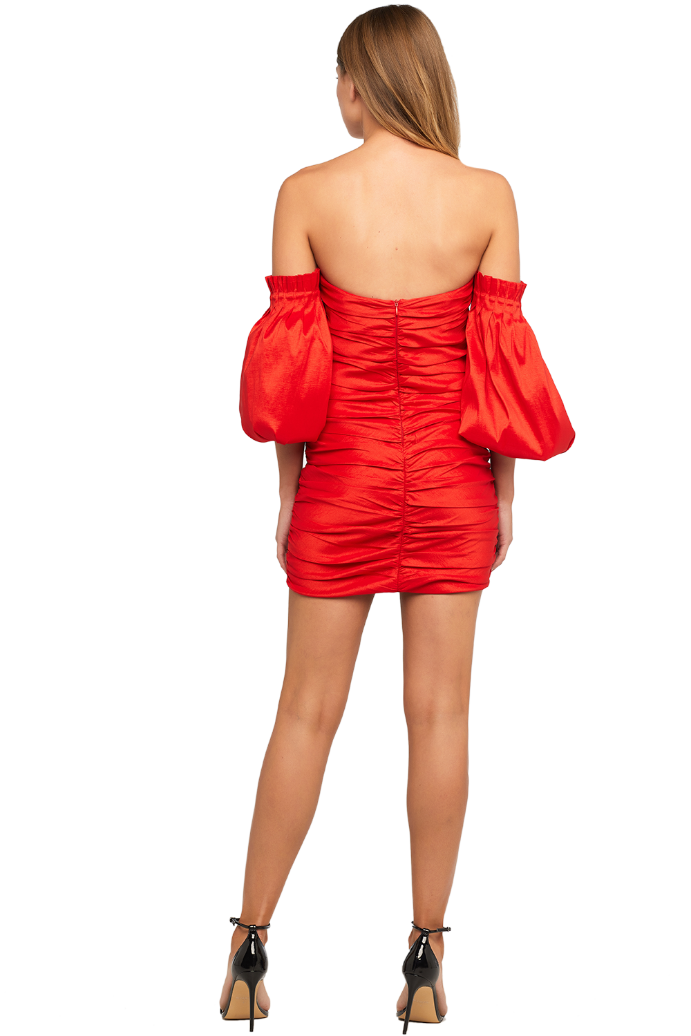 MARISSA MINI DRESS in colour HIGH RISK RED