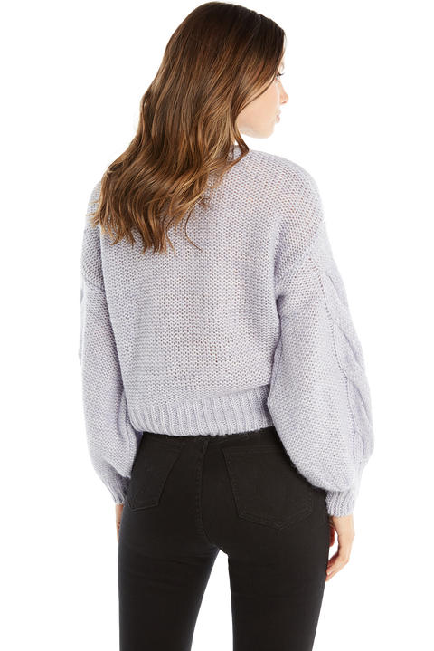 RACHEL COSY KNIT JUMPER in colour SKYWAY