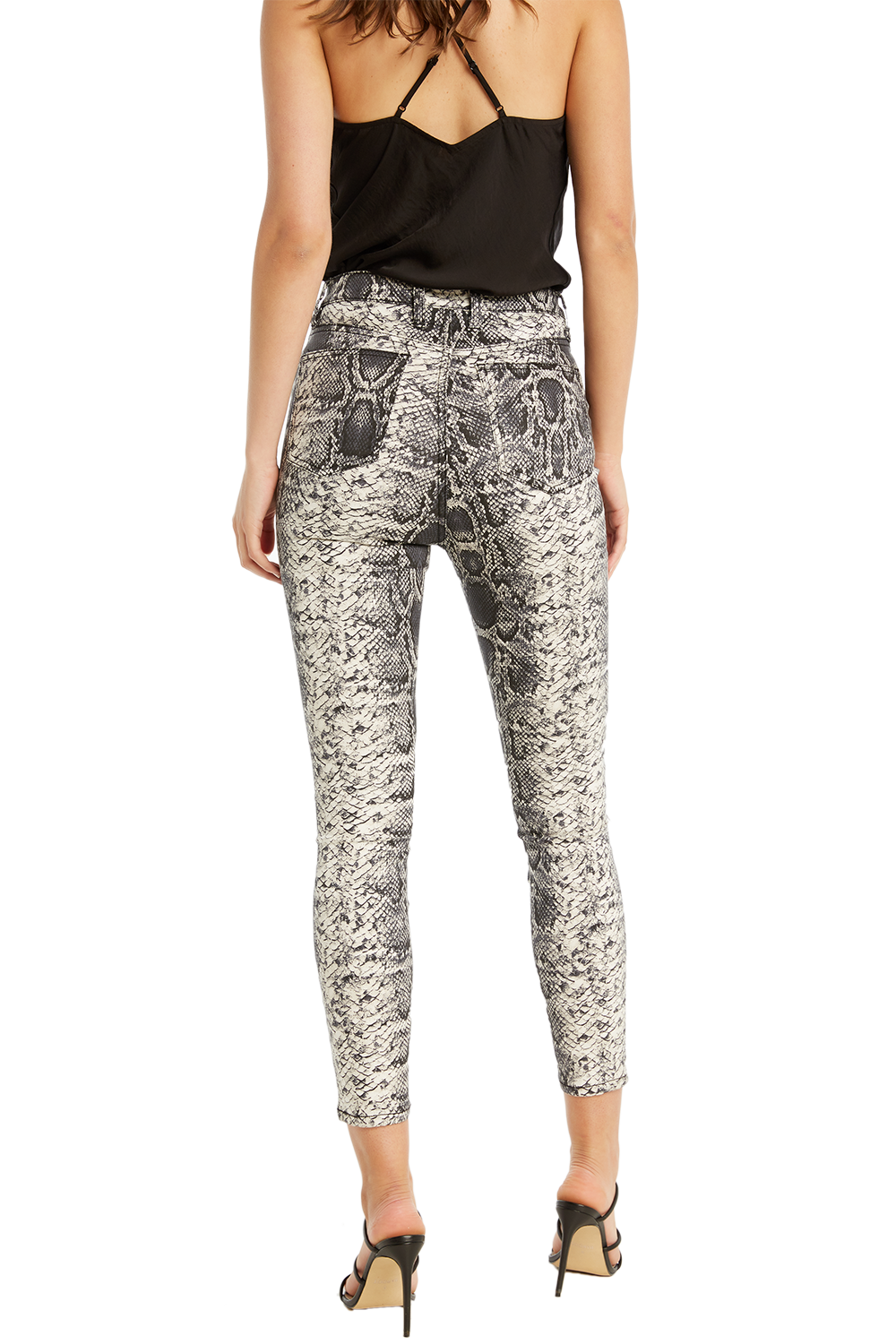 KHLOE SNAKE JEAN in colour BRIGHT WHITE