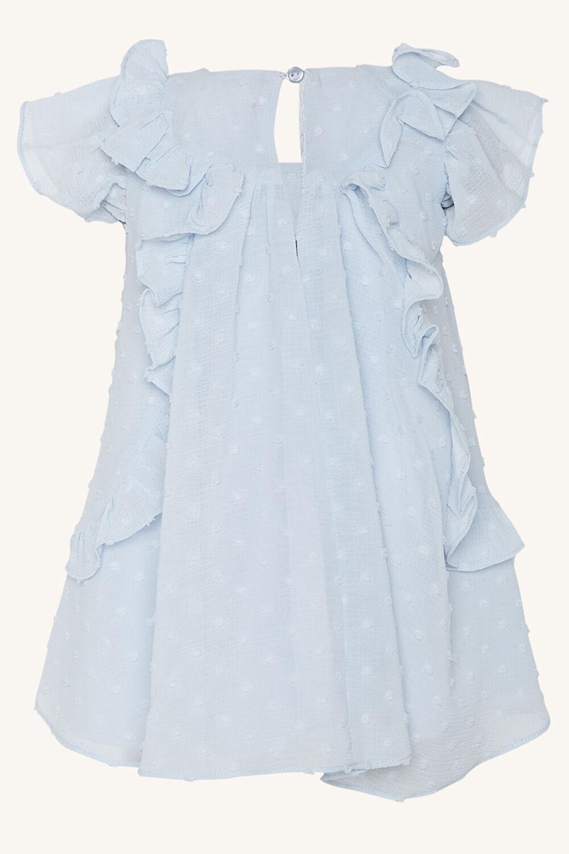 BABY GIRL OCILIA RUFFLE DRESS in colour BALLAD BLUE