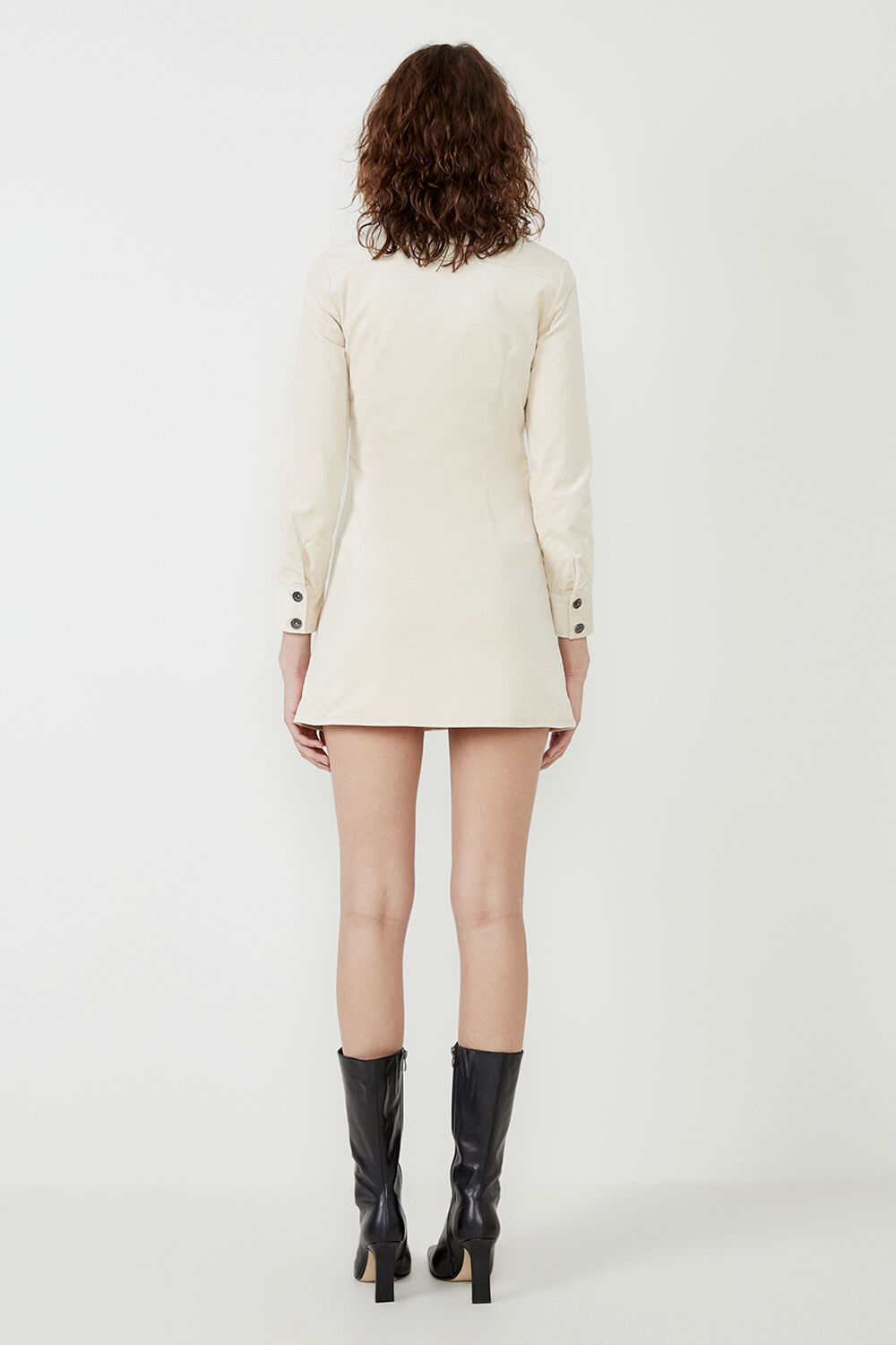 UTILITY CORD DRESS in colour MOONLIGHT