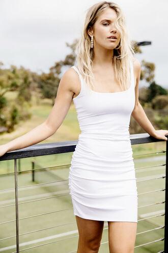 KARIN DRESS in colour BRIGHT WHITE