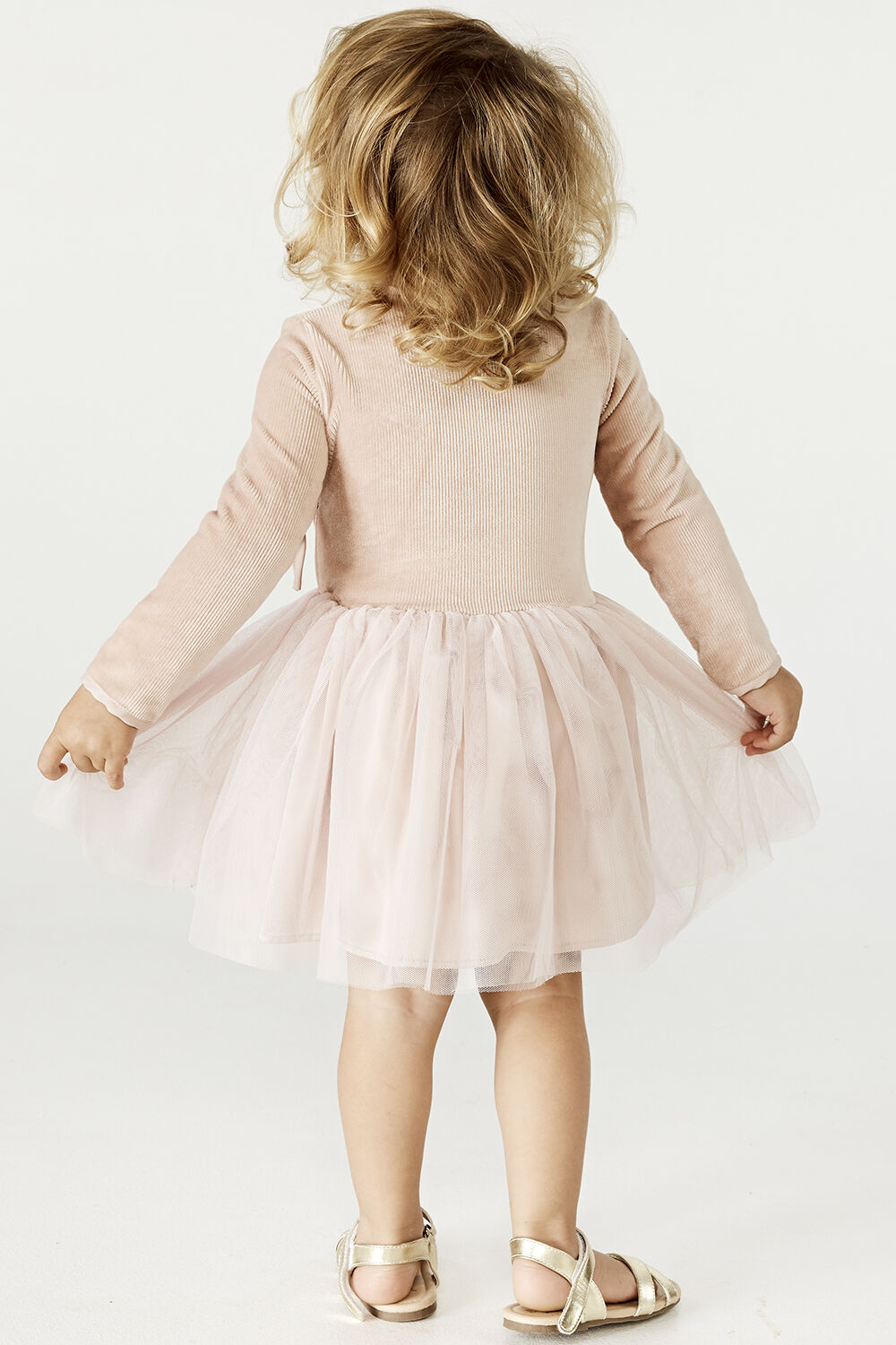 BABY GIRL WRAP BALLET DRESS in colour LOTUS