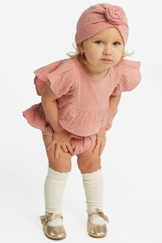 RUFFLE BUM BLOOMER in colour STRAWBERRY ICE