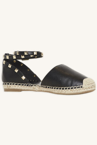 STUDDED ESPADRILLE SHOE in colour METEORITE