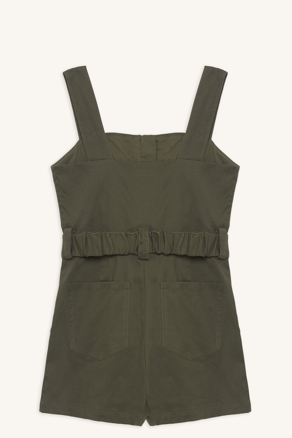 NEL UTILITY PLAYSUIT in colour OLIVINE