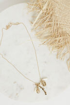 BEACH NECKLACE in colour GOLD EARTH