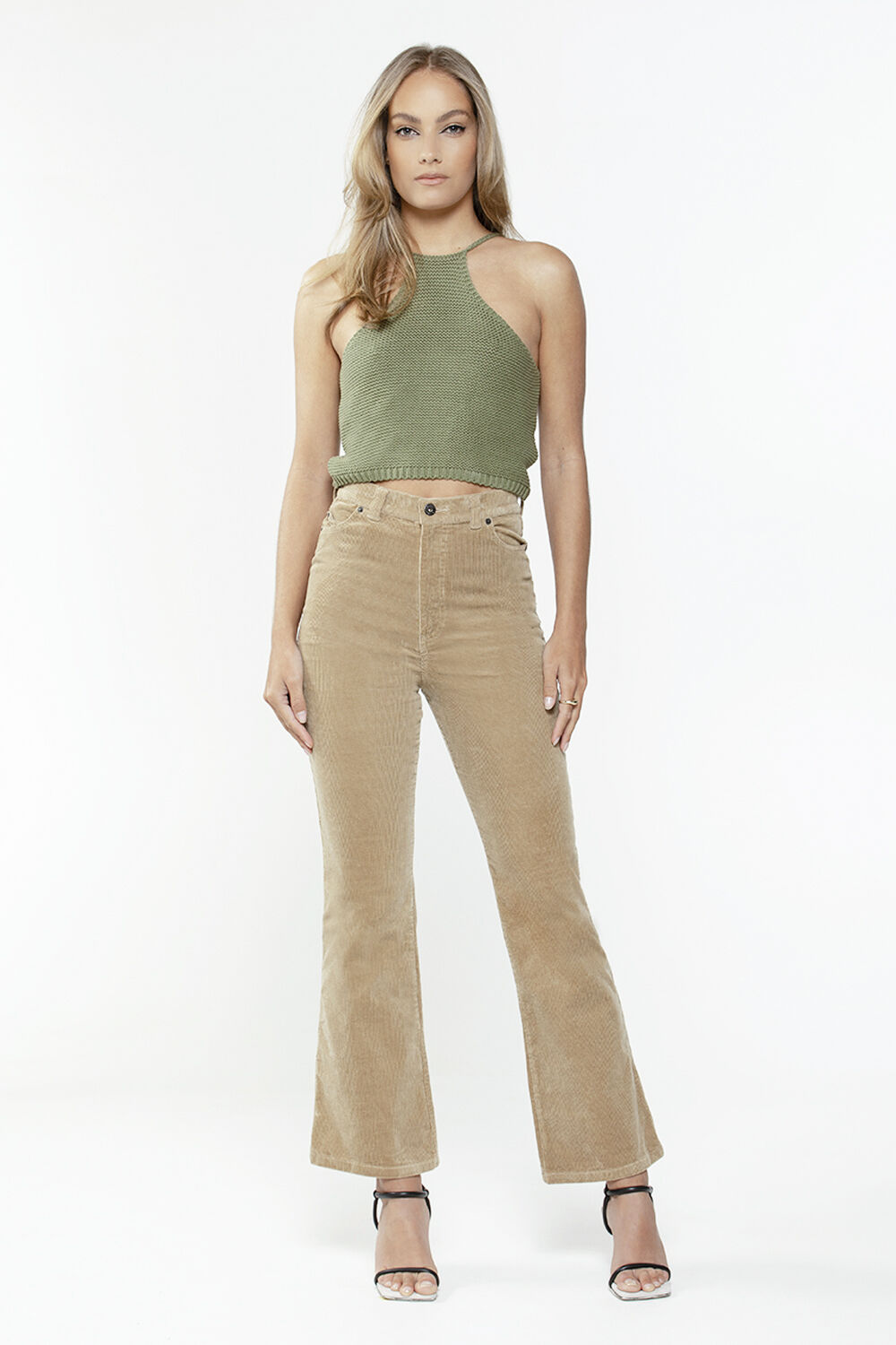 ELIANA KNIT TOP in colour IVY GREEN