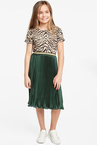 CORDINA PLEAT SKIRT in colour DARK GREEN