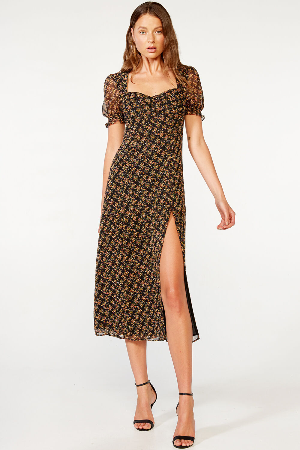 SERAFINA MIDI DRESS in colour VULCAN
