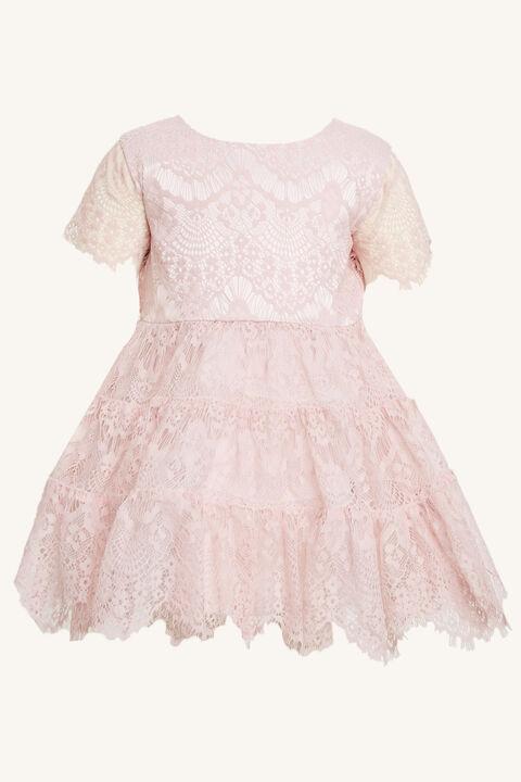 OLIVIA TIERED DRESS in colour POTPOURRI