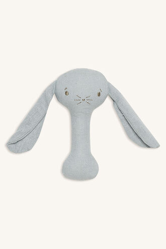 BOBBY BUNNY STICK RATTLE in colour GRAY MIST