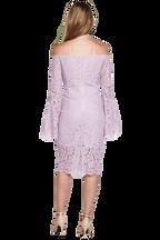 SOLANGE LACE DRESS in colour FAIR ORCHID