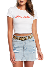 PINA COLADA TEE in colour BRIGHT WHITE
