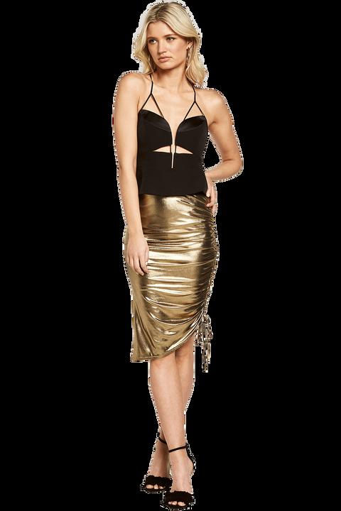 DEEVA SKIRT in colour PALE GOLD