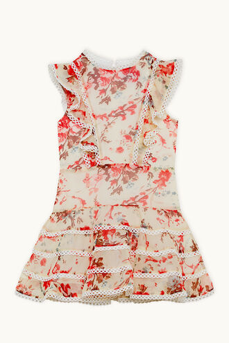 SADIE TRIM DRESS in colour CLOUD DANCER