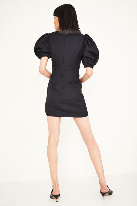 TALULLAH MINI DRESS in colour CAVIAR