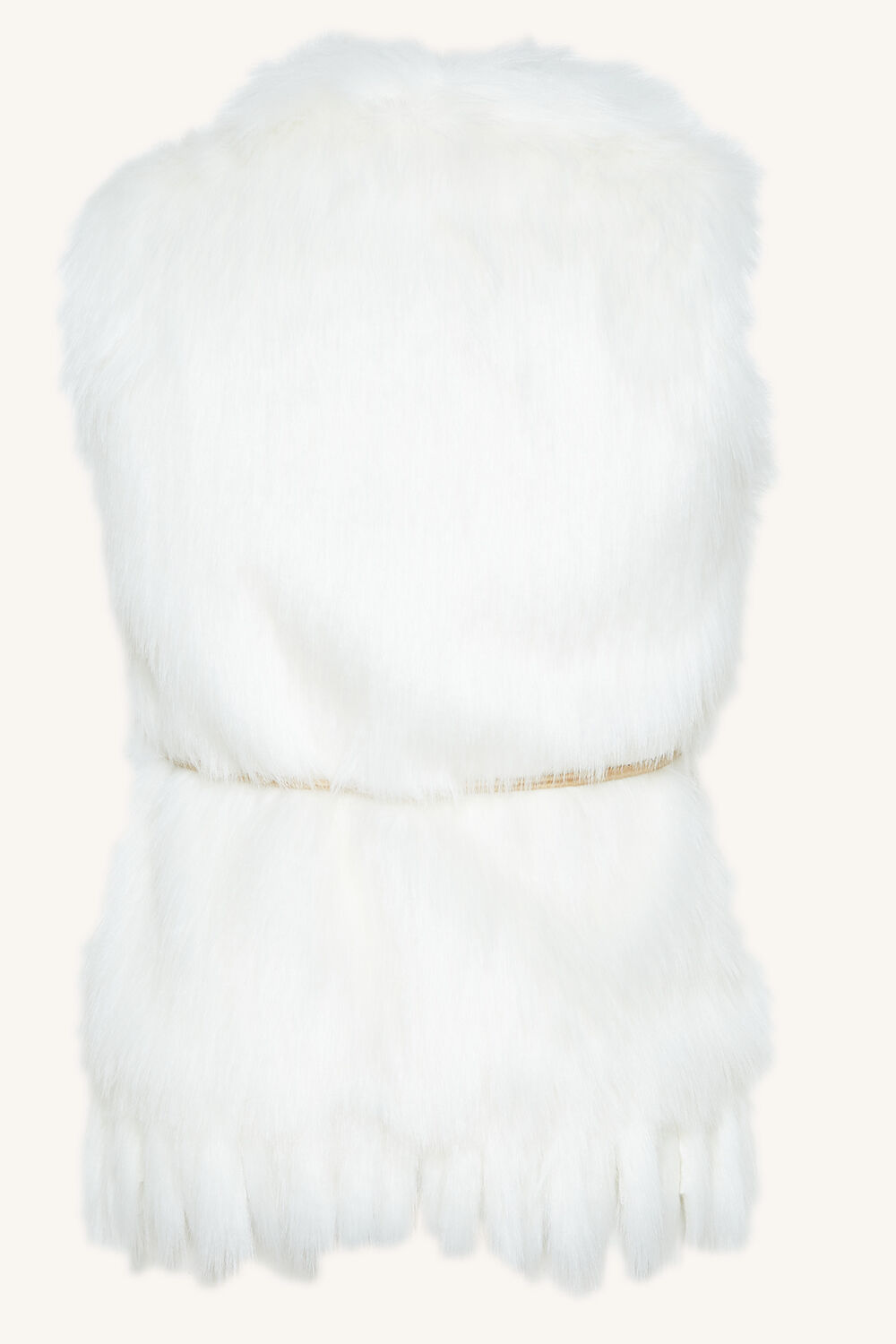 TWEEN GIRL ISLA FAUX FUR VEST in colour CLOUD DANCER