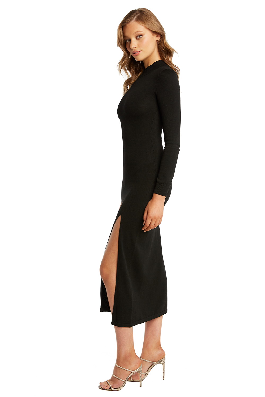 MAXI KNIT DRESS in colour CAVIAR