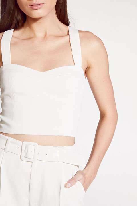 KEYLA TOP in colour ANTIQUE WHITE