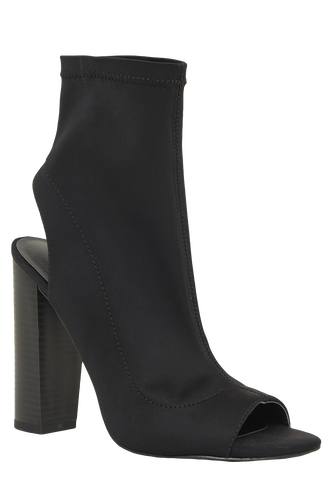 OPEN NIGHT ANKLE BOOT in colour METEORITE